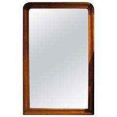 19th Century Extra Large Mahogany Frame Mirror, England