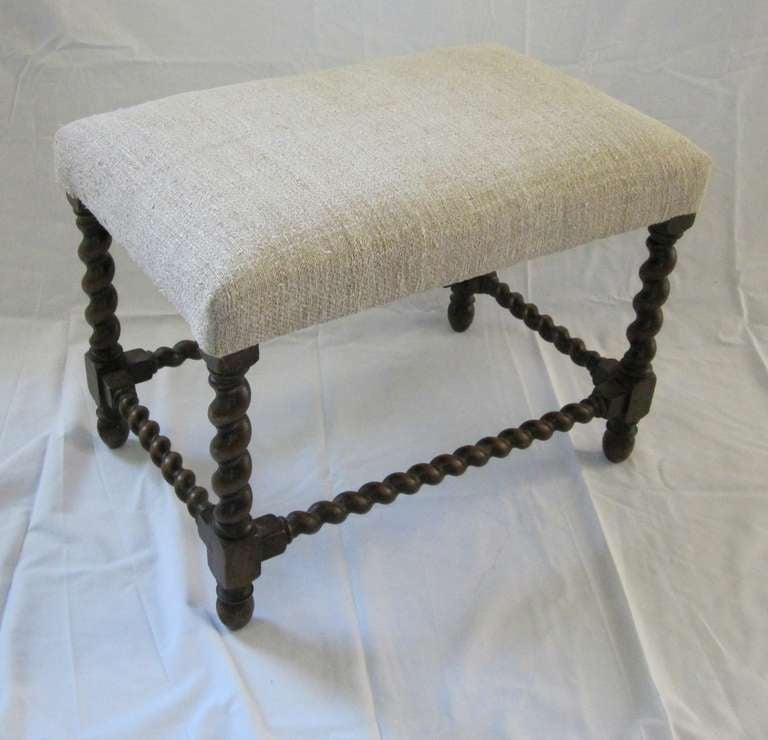 1920 S French Spool Leg Foot Stools At 1stdibs