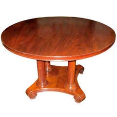 Round Center Hall, Side Table, France, 19th Century
