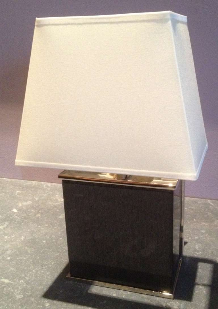 Contemporary Small Grey Table Lamp At 1stdibs