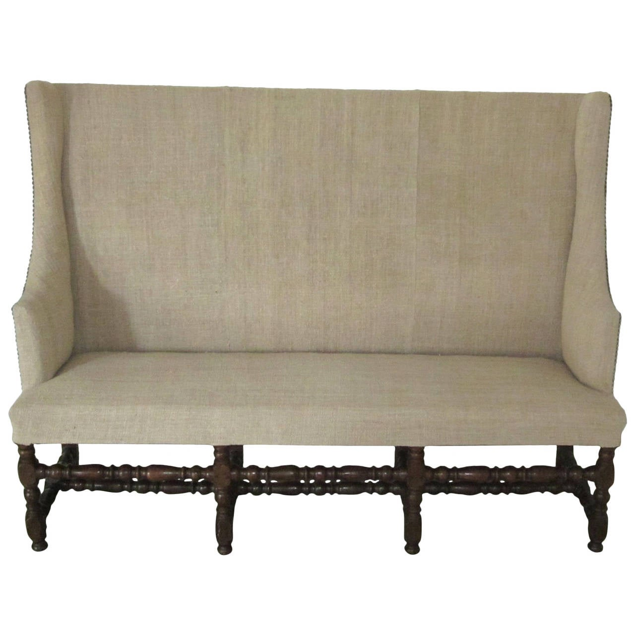 #776A54 This High Back Upholstered Settee France 18th Century Is No Longer  with 1280x1280 px of Most Effective High Back Upholstered Bench 12801280 wallpaper @ avoidforclosure.info