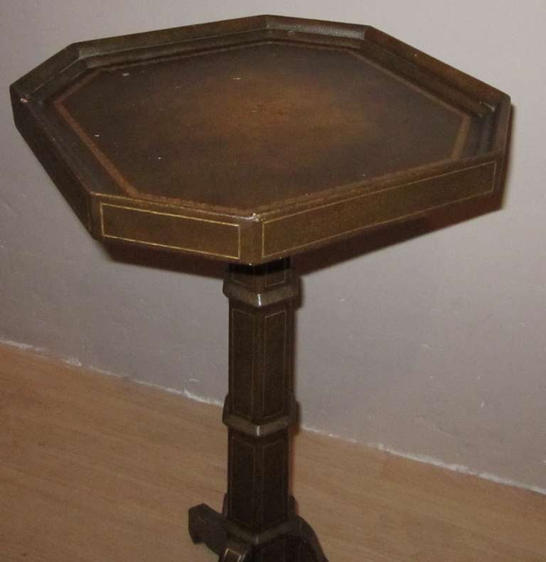 Maison Jansen Brown Leather Cocktail Table France 1940s For Sale At 1stdibs