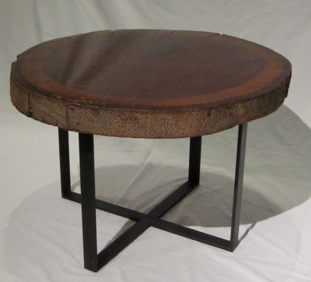 Wood Slice Accent Table: 1940s Wood Slice Coffee Table At 1stdibs