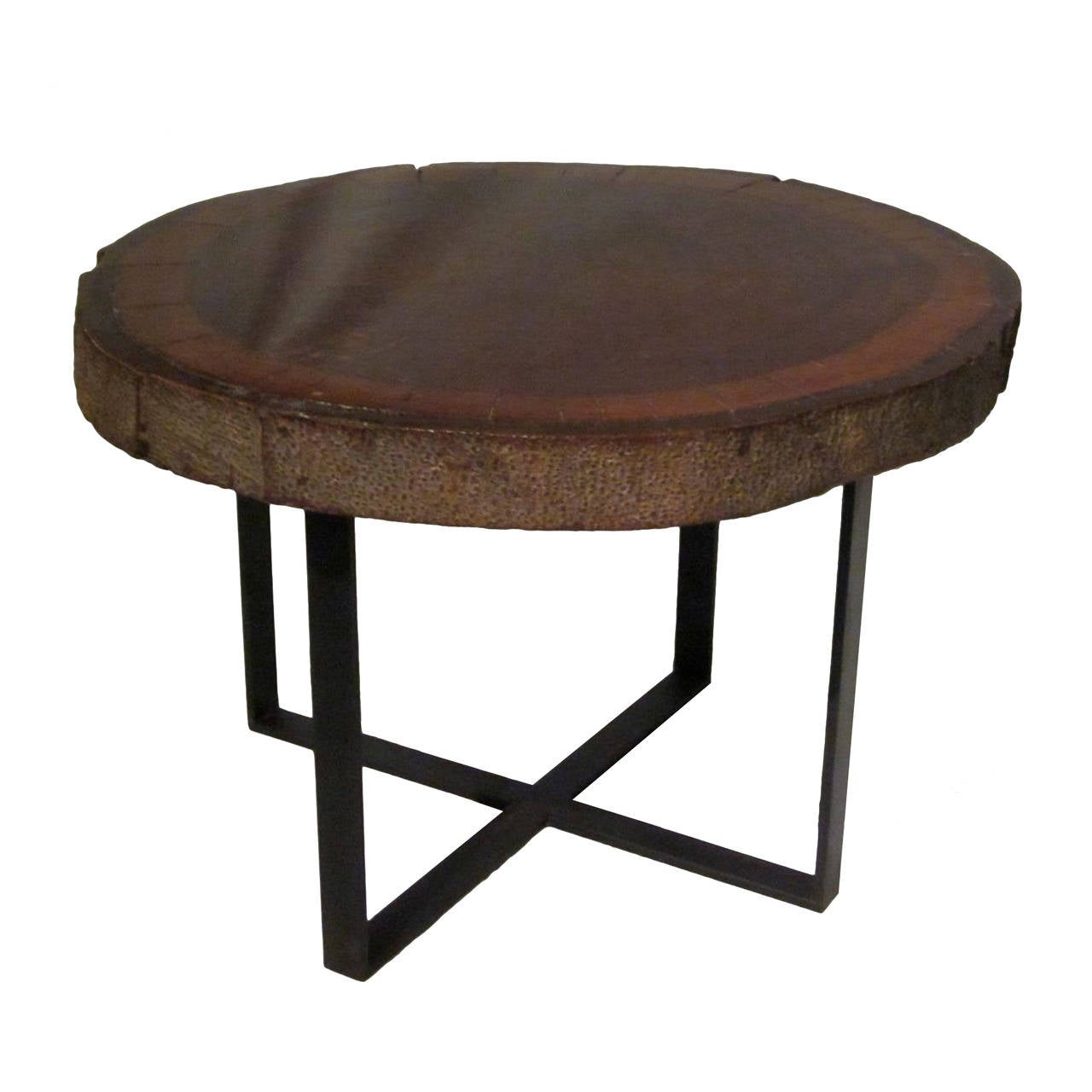 1940s wood slice coffee table at 1stdibs