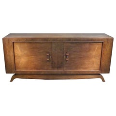Deco Rosewood Credenza, France, 1940s
