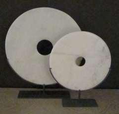 Chinese white stone discs