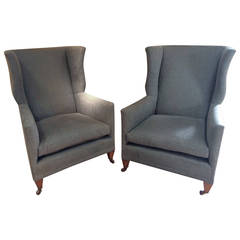 Pair Of Late 19thC English Wing Chairs