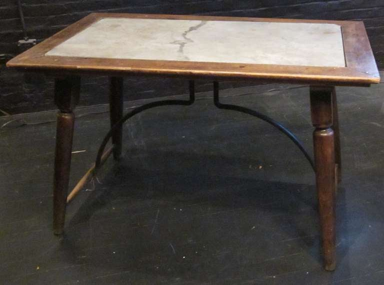 19th c spanish pair marble insert side tables at 1stdibs for Table insert th