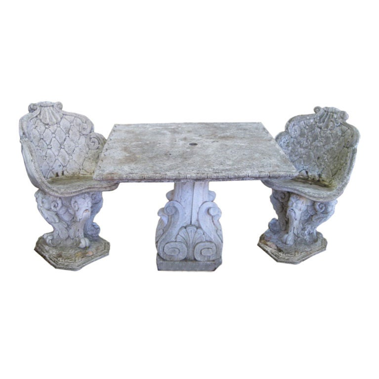 1950 39 S Belgian Garden Table And Chairs At 1stdibs