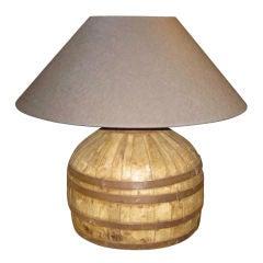 19thC Chinese Water Bucket Lamp