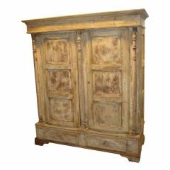 19th Century Swedish Bowfront Armoire