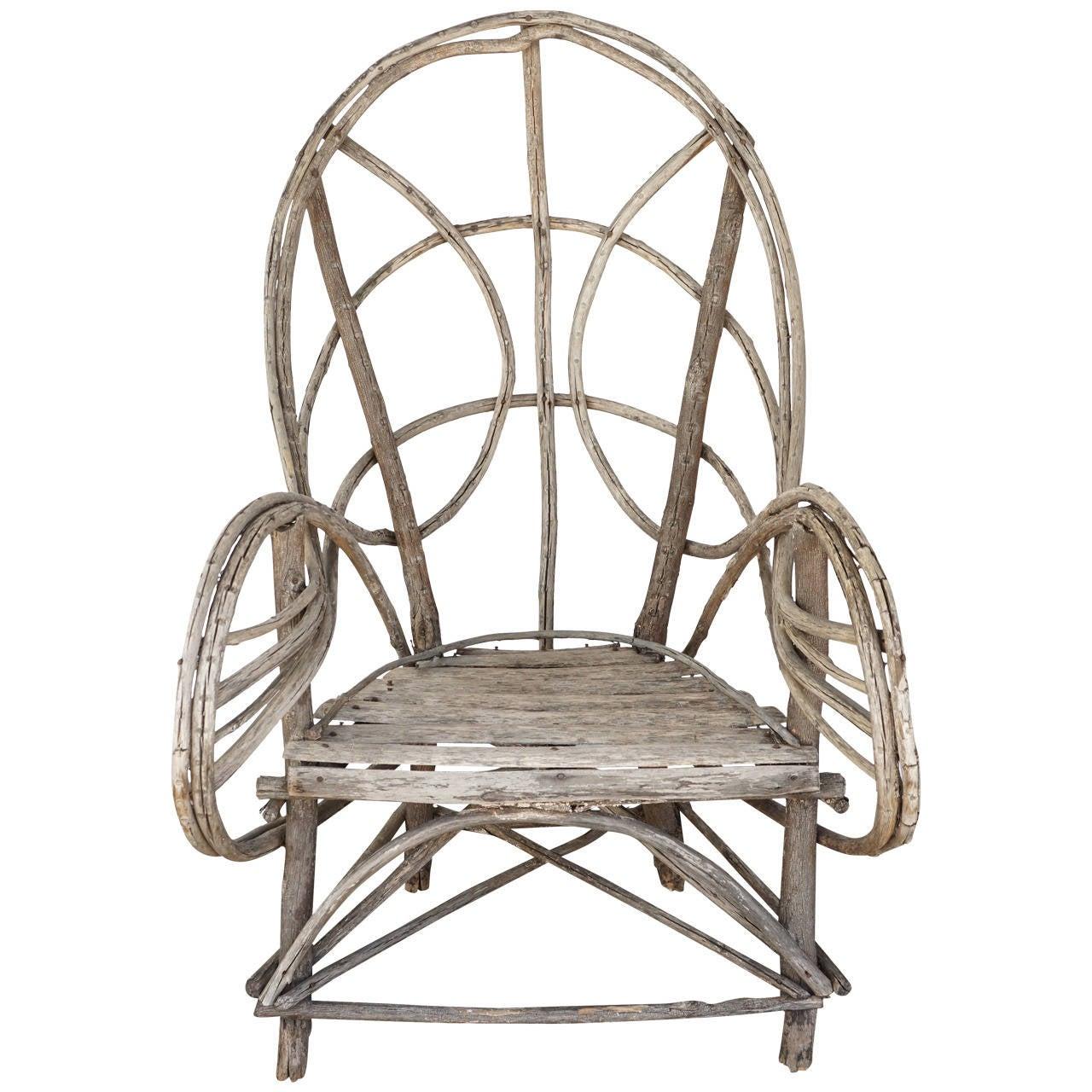 Vintage Adirondack Twig Veranda or Lawn Chair