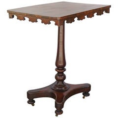 English Early Victorian Rosewood Occasional Table