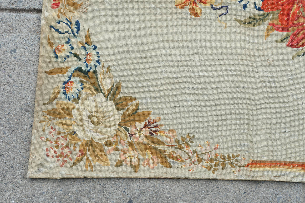 English Needlepoint Rug From The Estate Of Paul U0026 Bunny Mellon 3