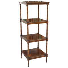 English Edwardian Mahogany Four-Shelf Etagere