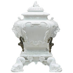 Late 19th Century French Blanca de Chine Fountain or Lava Bowl