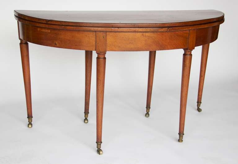 Late Regency Expandable Demi Lune Table At 1stdibs
