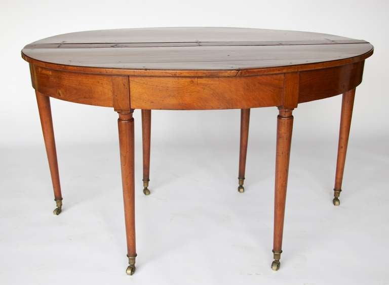 Late regency expandable demi lune table at 1stdibs for Table demi lune extensible