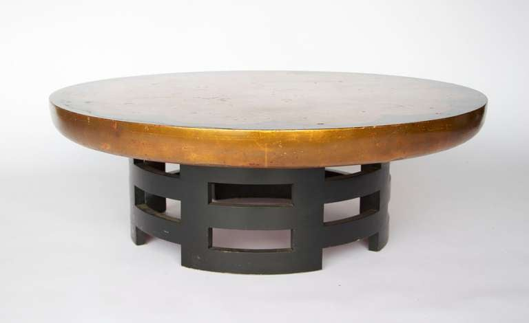 Chinese Lotus Style Coffee Table By Muller And Berringer At 1stdibs