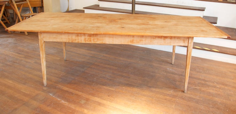 8 Foot Long Farm Table at 1stdibs