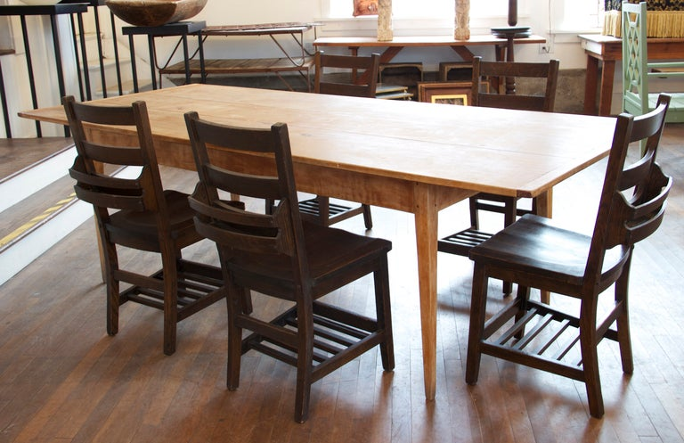 8 foot long farm table at 1stdibs for 7 foot dining room table