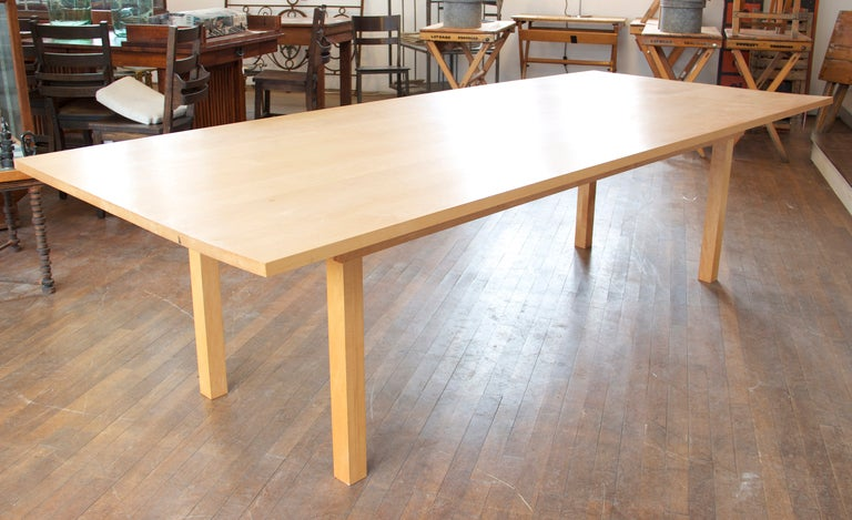 Tom phifer modern maple dining table at 1stdibs for Maple dining room table