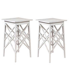 "Pair of ""Trestle"" End Tables"
