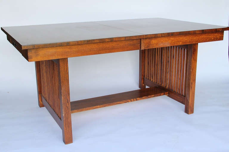 10 foot mission style dining table at 1stdibs for Mission style dining table
