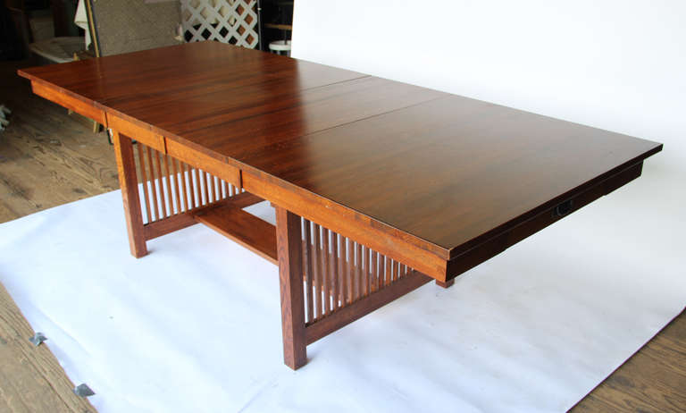 10 foot mission style dining table for sale at 1stdibs for 9 foot dining room table