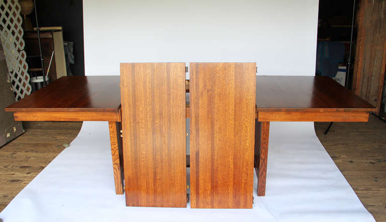 10 foot mission style dining table for sale at 1stdibs for 7 foot dining room table