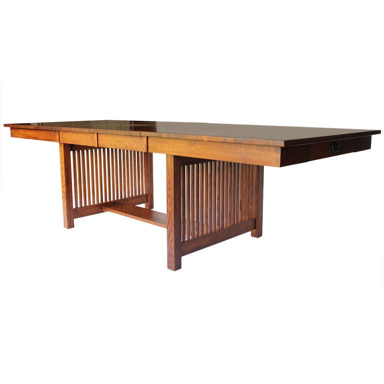 10 foot mission style dining table for sale at 1stdibs for Mission style dining table
