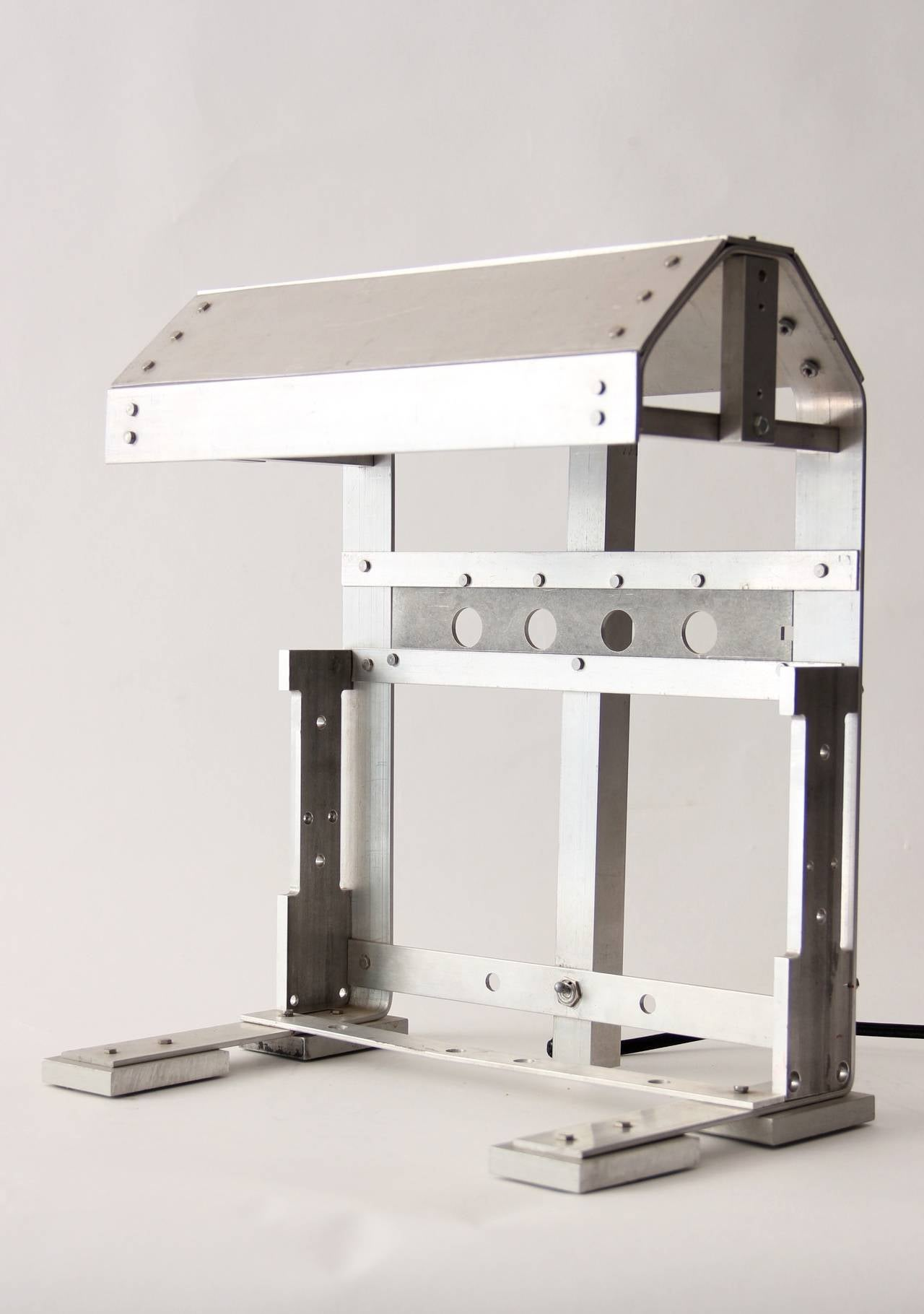 A self manufactured and designed desk lamp with great attention to construction and Industrial sensibility.