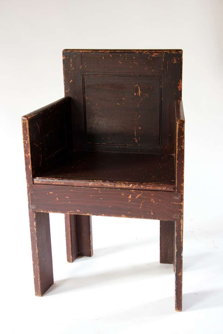 British Grain Painted Scottish Chair For Sale