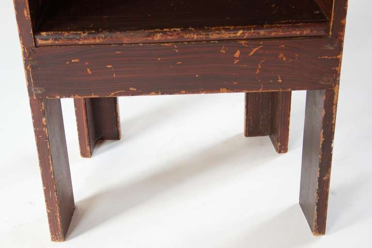 Wood Grain Painted Scottish Chair For Sale