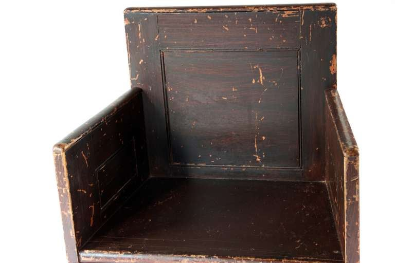 20th Century Grain Painted Scottish Chair For Sale