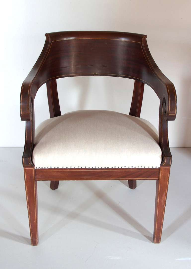 This hand painted hepplewhite style chairs is no longer available - Colonial Revival Armchair In The Hepplewhite Style 3