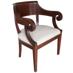 Colonial Revival Armchair in the Hepplewhite Style