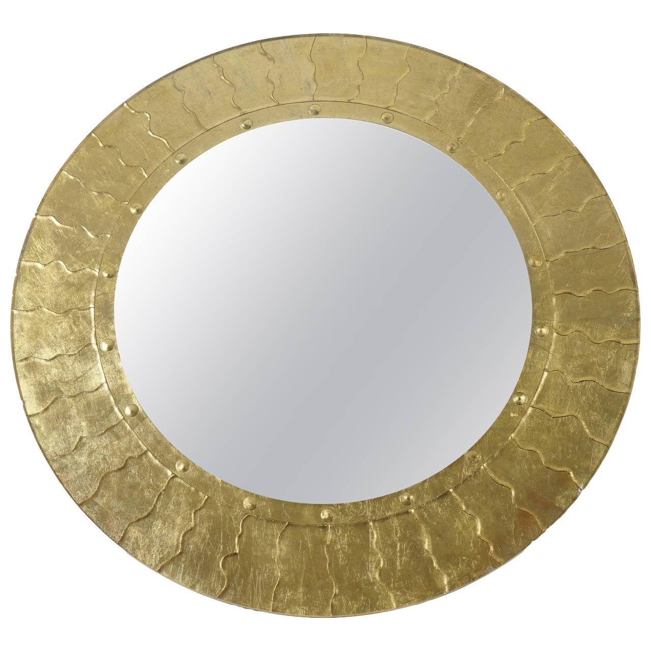 Bold Gilt Modernist Mirror