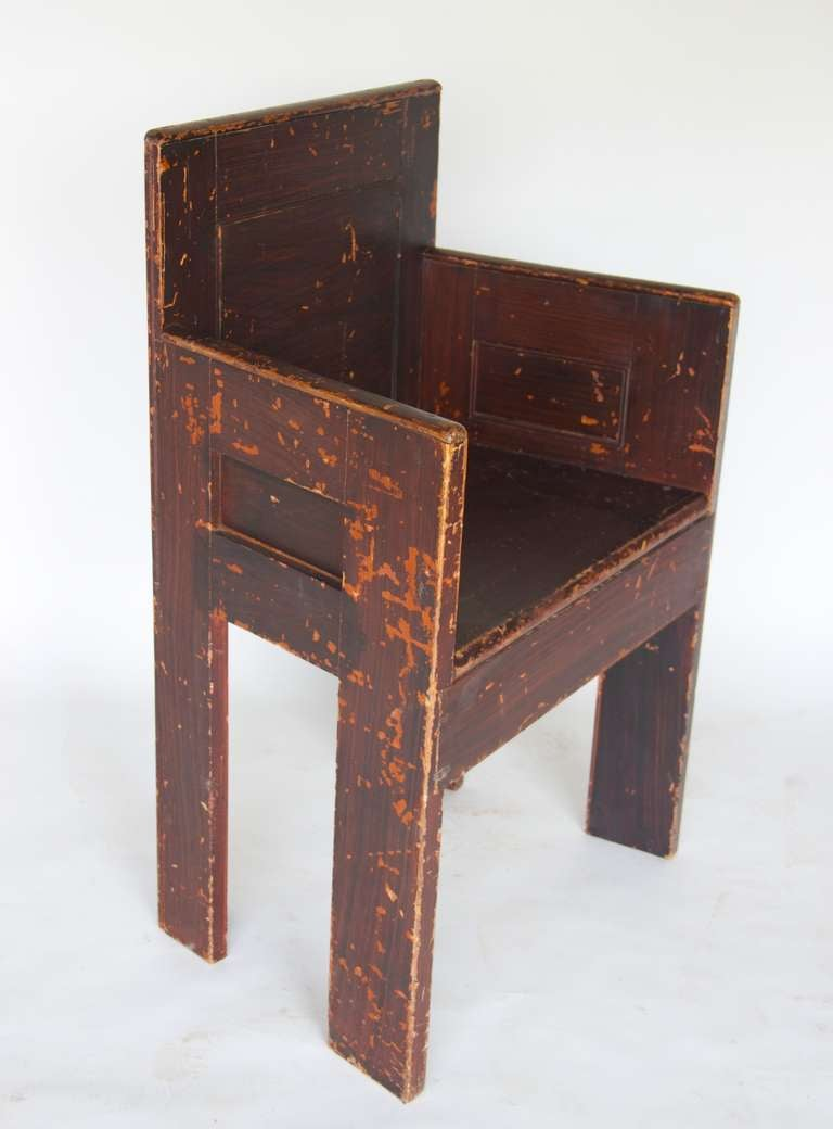 Grain Painted Scottish Chair In Good Condition For Sale In Hudson, NY
