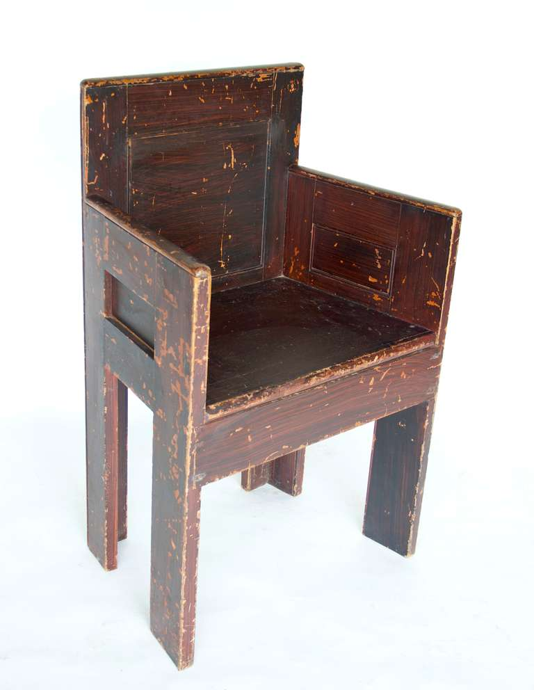 Grain Painted Scottish Chair For Sale At 1stdibs