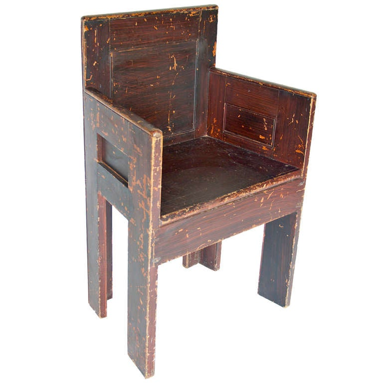 Grain Painted Scottish Chair For Sale