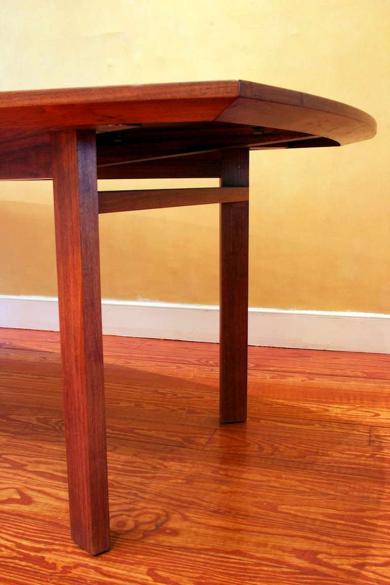 10 foot long walnut dining table attributed to jens risom for 5 foot dining room table