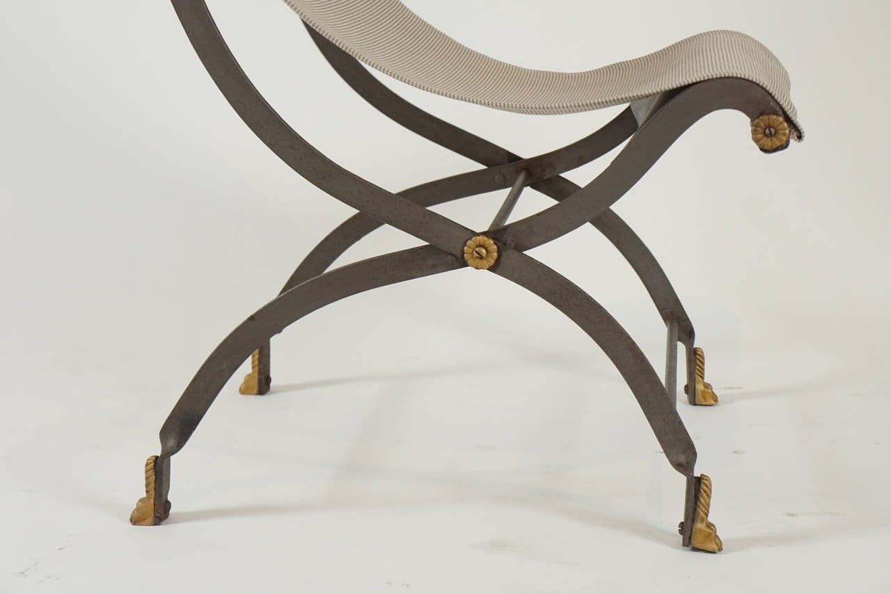 Pair Quot Slingback Quot French Park Chairs At 1stdibs