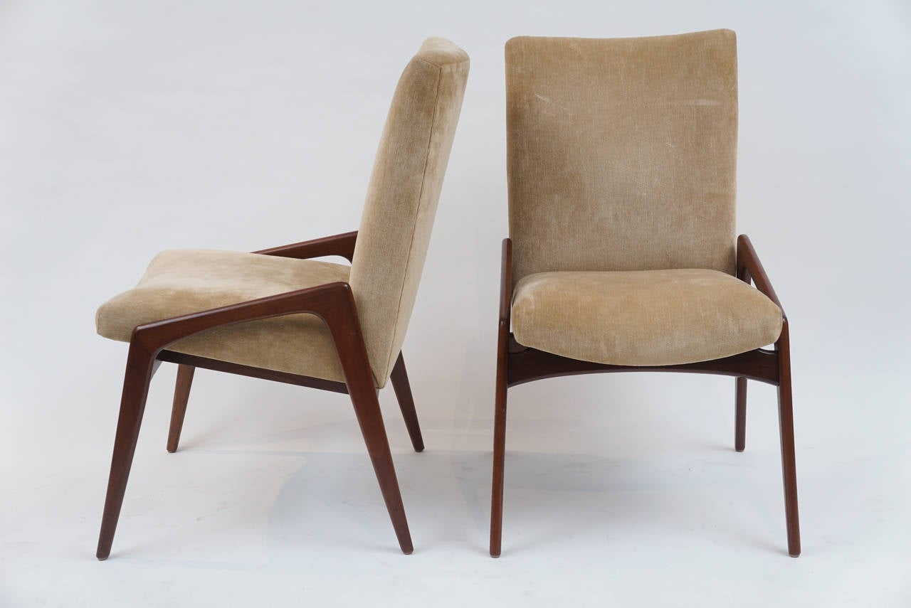 Set of 12 mid century modern upholstered dining chairs at for Contemporary seating chairs