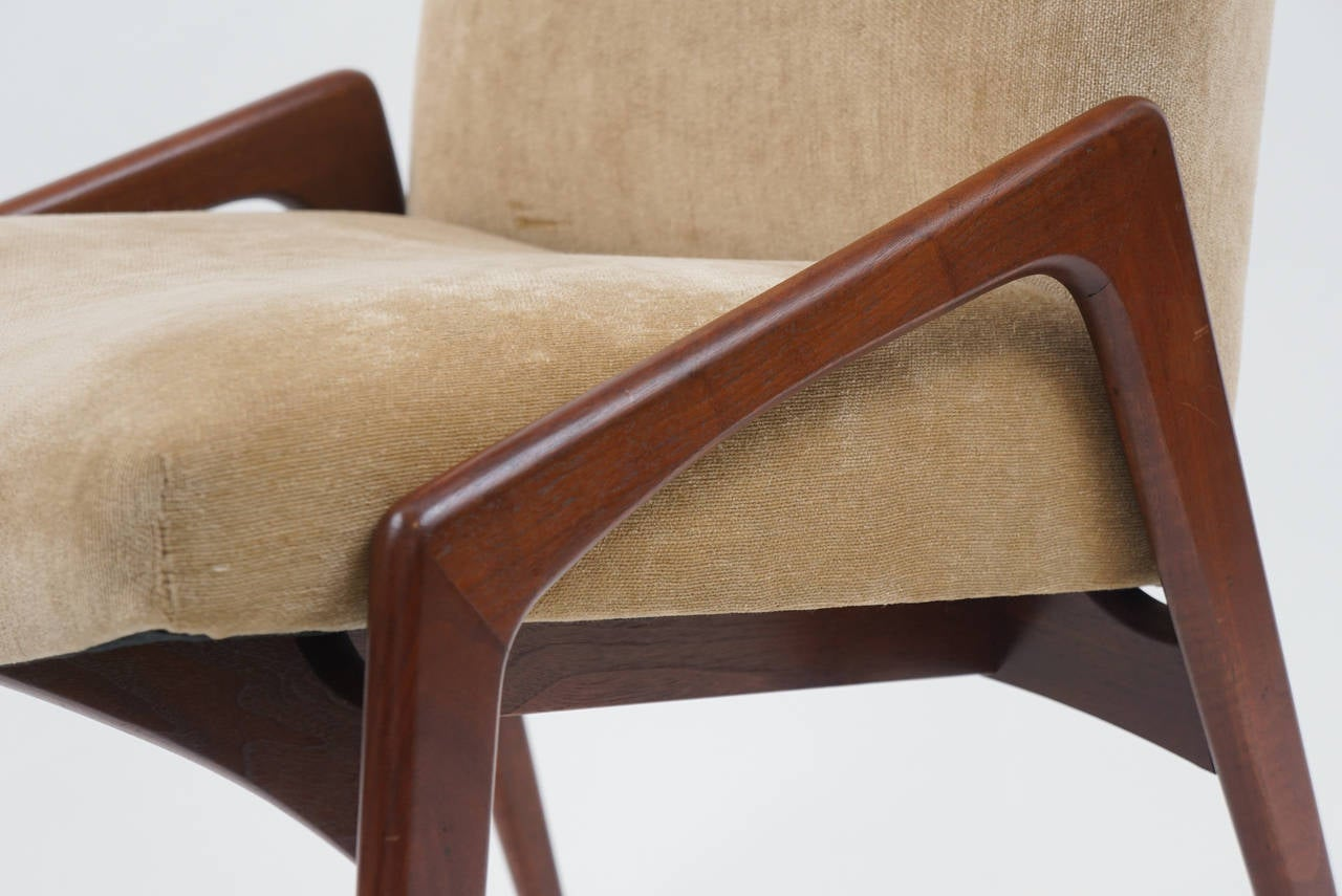 Set of 12 Mid-Century Modern Upholstered Dining Chairs at 1stdibs