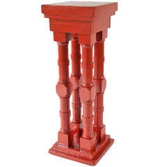 Extremely Orange Four-Column Pedestal