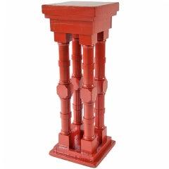 Extremely Orange Four-Column Pedestal