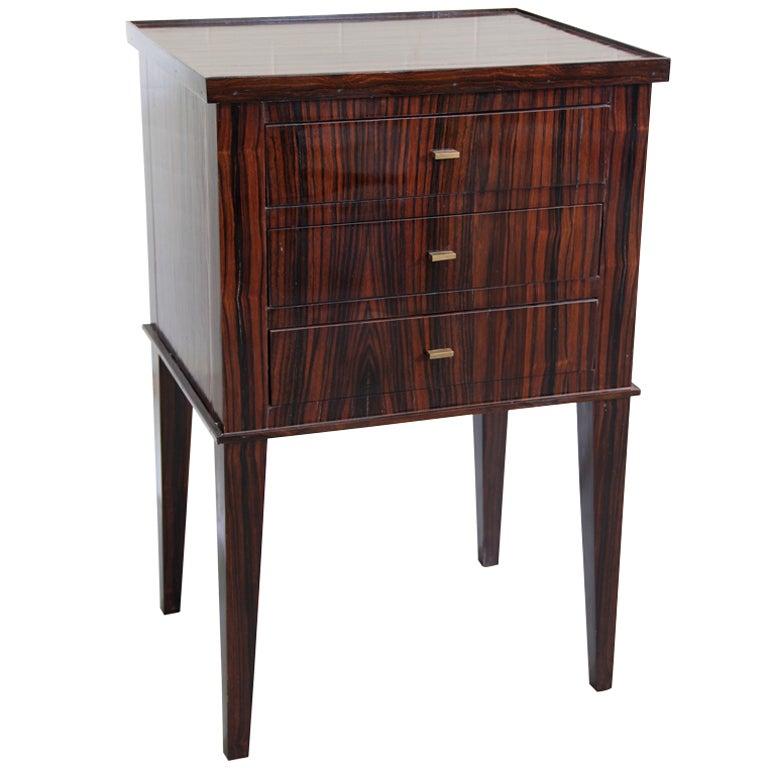 Three drawer madagascar mahogany end table at stdibs