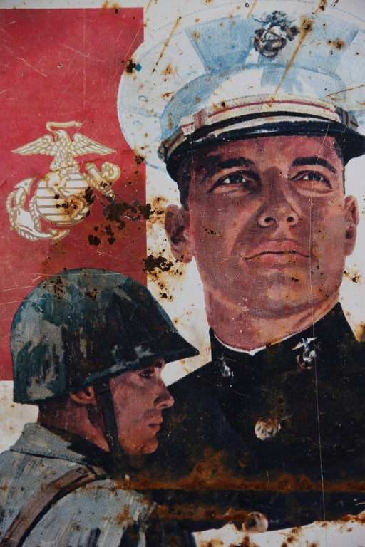 1970 S Marine Recruitment Sign For Sale At 1stdibs
