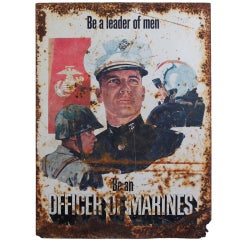 1970's MARINE Recruitment Sign